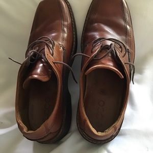 ECCO Men's Brown Lace Up Loafer US 8 Square Toe